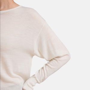 Grana merino wool wide neck sweater top
